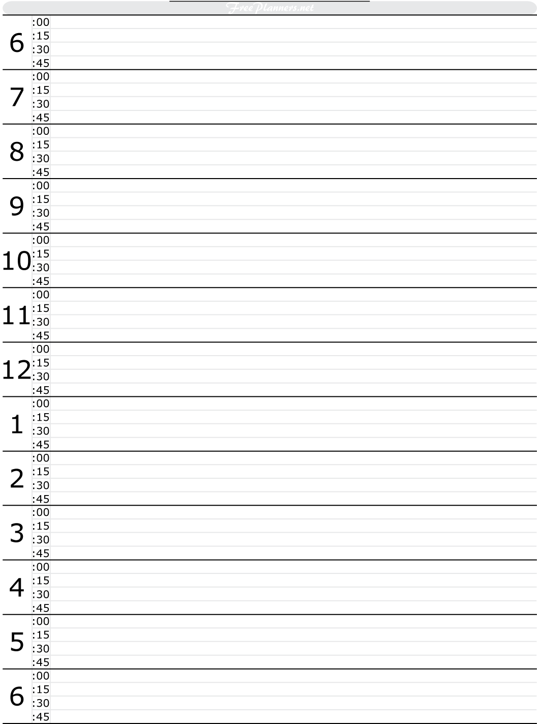 Daily Planners Daily Planner Free Planners